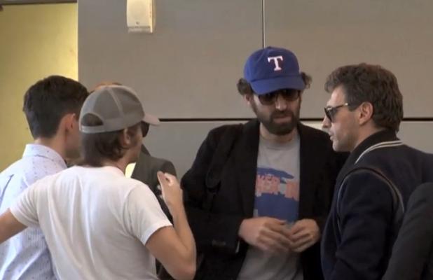 Daft Punk 'unmasked' at LAX Airport