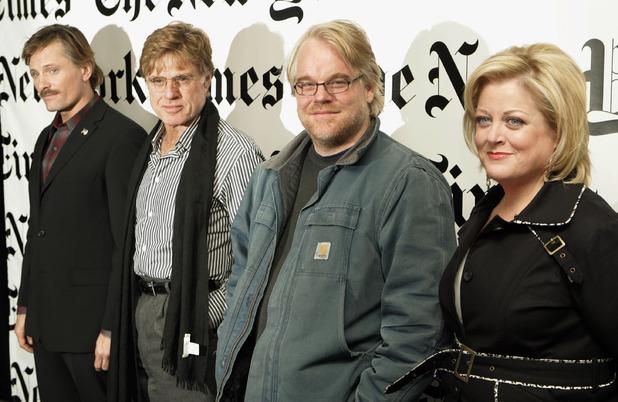 Viggo Mortensen, Robert Redford, Philip Seymour Hoffman and opera singer Deborah Voigt,