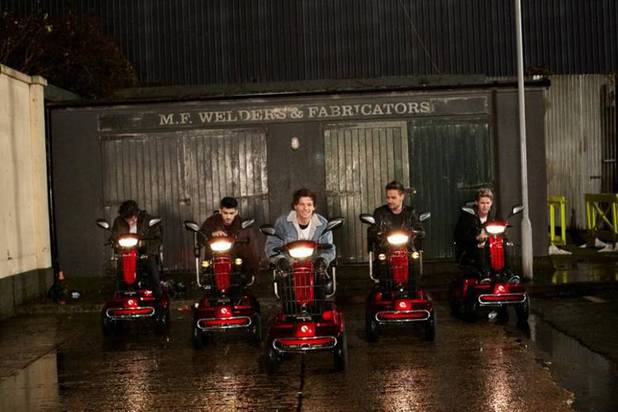 One Direction 'Midnight Memories' behind the scenes video still.