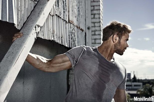 Kellan Lutz in Men's Health magazine