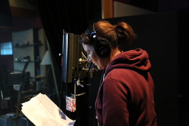 Sam Bailey in the studio