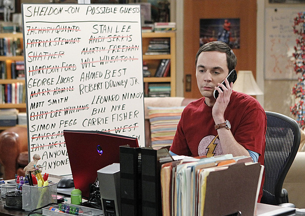 Jim Parsons as Sheldon in The Big Bang Theory: 'The Convention Conundrum'