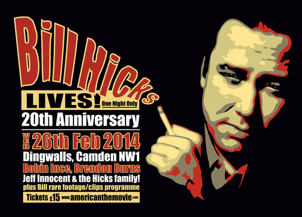 Bill Hicks Lives! event poster