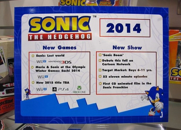 Standee listing a new Sonic game for 2015