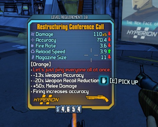 Borderlands 2 colourblind mode item card