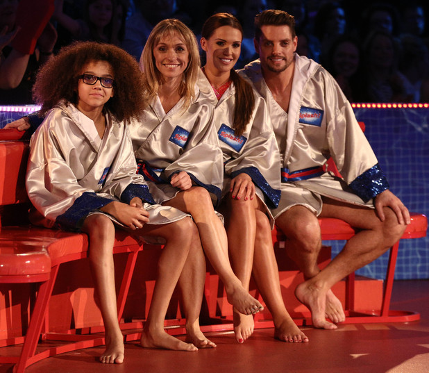 Perri Kiely, Michaela Strachan, Danielle Lloyd and Keith Duffy