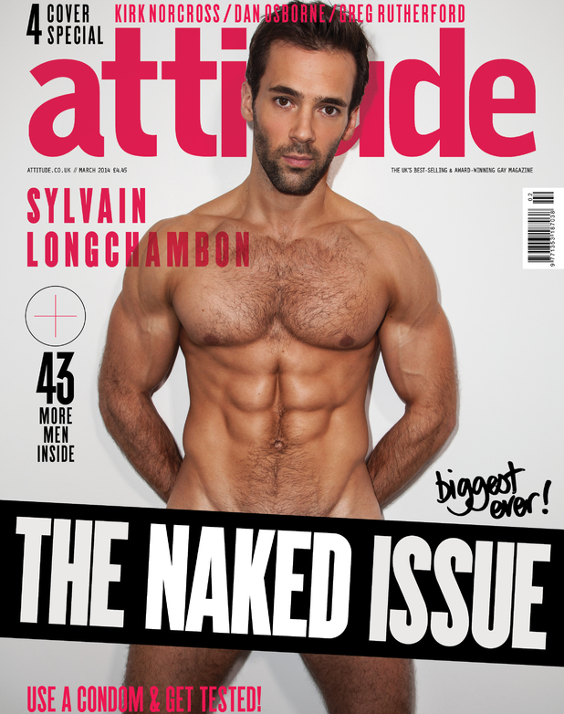 Sylvain Longchambon in Attitude's naked issue