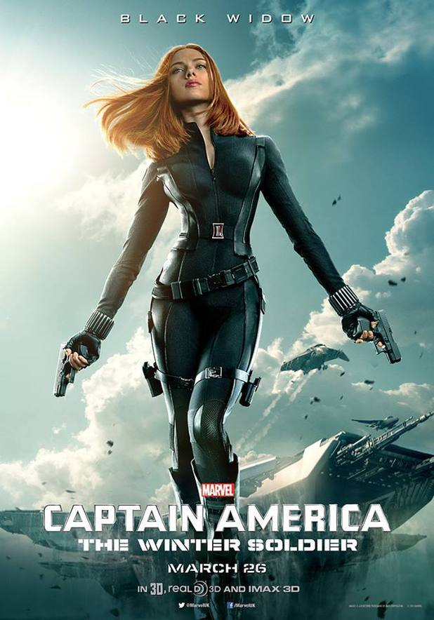 Scarlet Johansson as Black Widow Captain America: The Winter Soldier character poster