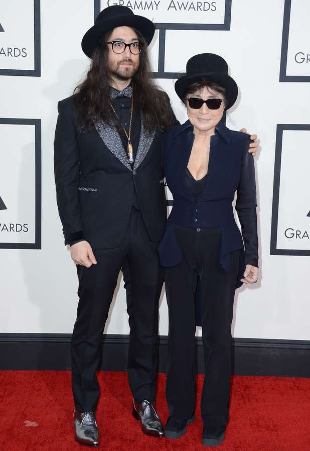 Sean Lennon and Yoko Ono