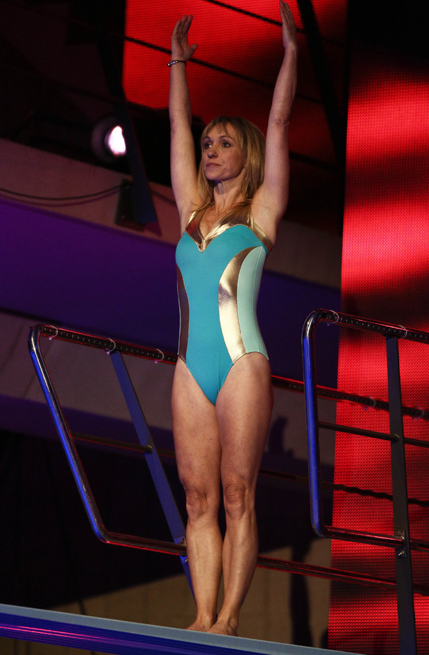 Michaela Strachan prepares to dive from the 3 metre spring board