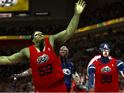 The mod adds Justice League and Avengers teams to the basketball game.