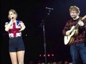 The singer is joined by Ed Sheeran, before a male fan invades the stage.