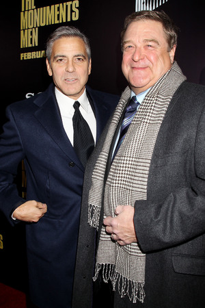'The Monuments Men' film premiere, New York, America - 04 Feb 2014 George Clooney and John Goodman 4 Feb 2014