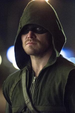 Stephen Amell as The Arrow in 'Arrow' S02E13: 'Heir to the Demon'