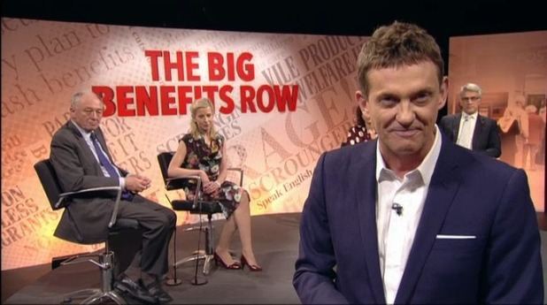 Channel 5's Big Benefits Row debate