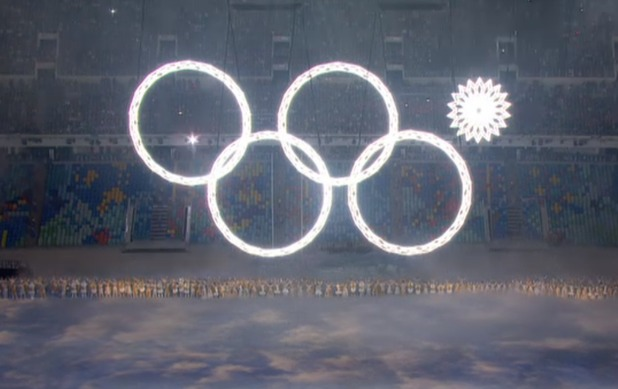 Malfunctioning ring at the Sochi 2014 Opening Ceremony