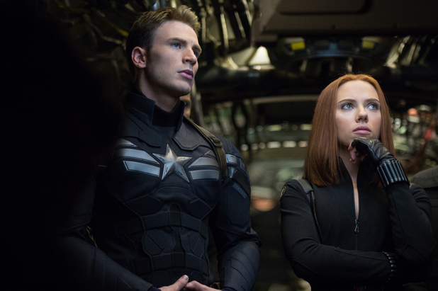 Chris Evans, Scarlett Johansson in Captain America: The Winter Soldier