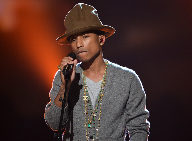 Pharrell Williams performs onstage during 'The Night That Changed America: A GRAMMY Salute To The Beatles' on January 27, 2014