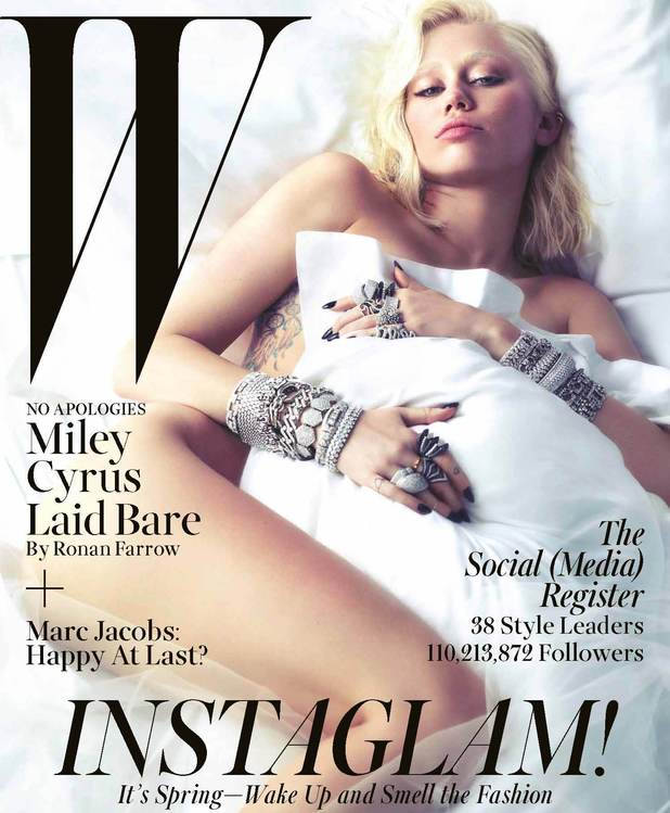 Miley Cyrus on the cover of W Magazine