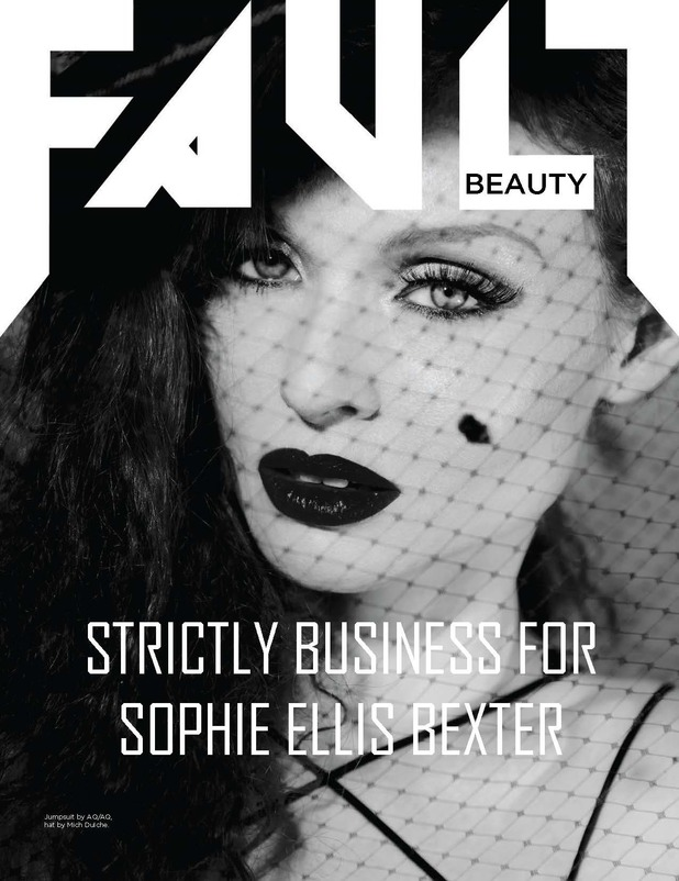 Sophie Ellis-Bextor on the cover of Fault magazine