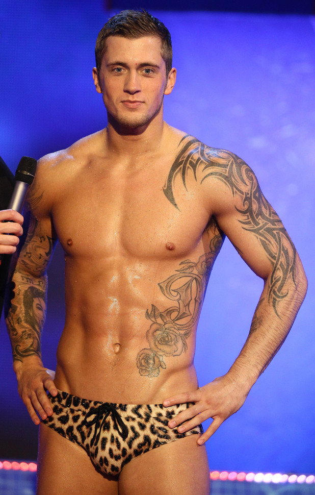 Dan Osborne 'Splash' TV Programme, Luton, Britain - 25 Jan 2014