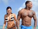 Kelly Brook's muscular new squeeze shows off his Gladiator body.