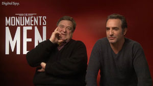 The Monuments Men stars John Goodman and Jean Dujardin treat Digital Spy to one minute of madness.
