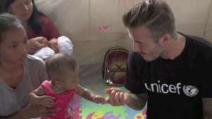 David Beckham praises Philippines typhoon response