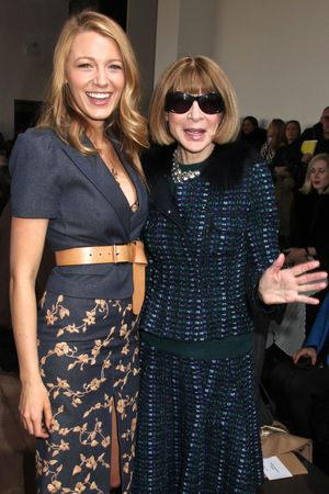 Michael Kors show, Anna Wintour and Blake Lively New York Fashion Week 2014