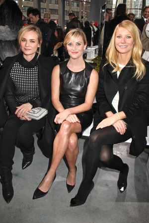 Hugo Boss show, Autumn Winter 2014 Mercedes-Benz Fashion Week, New York, America - 12 Feb 2014 Diane Kruger, Reese Witherspoon and Gwyneth Paltrow