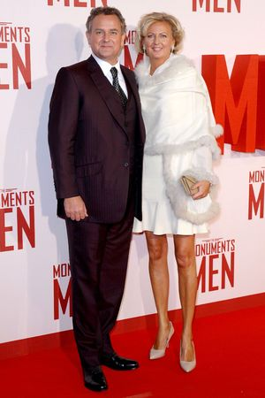 'The Monuments Men' film premiere, London, Britain - 11 Feb 2014 Hugh Bonneville and Lulu Williams
