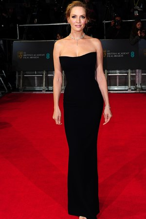 Uma Thurman, BAFTA 2014, Red Carpet