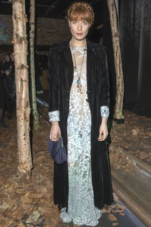 Florence Welch at the Tessa Edwards show, Autumn Winter 2014,