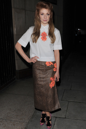 Nicola Roberts arrives for the House of Holland show