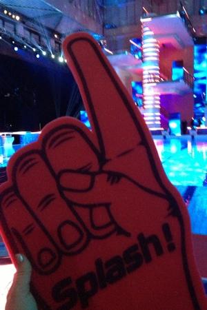 Splash! final and wrap party: Foam hand