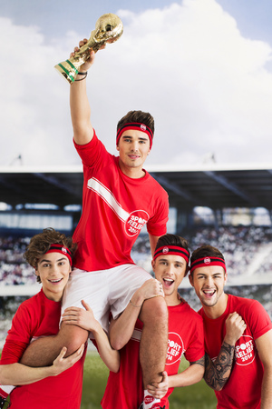 Union J recreating England World Cup pose fro Sport Relief