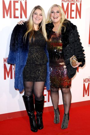 'The Monuments Men' film premiere, London, Britain - 11 Feb 2014 Vanessa Feltz and daughter Saskia