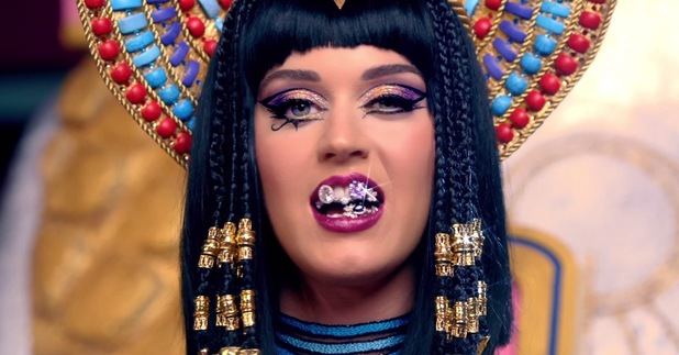 Katy Perry 'Dark Horse' music video still.