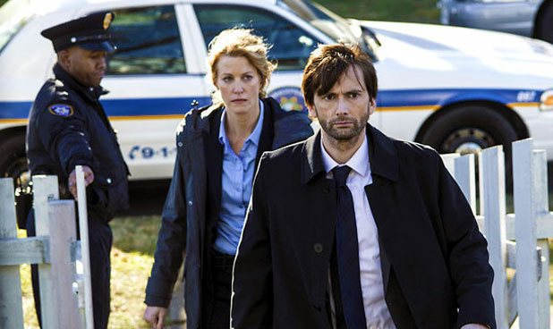 David Tennant and Anna Gunn in FOX's Gracepoint