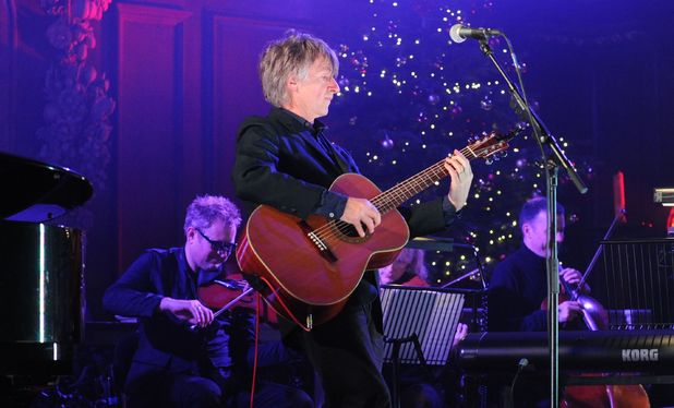 Neil Finn performing at St James Church