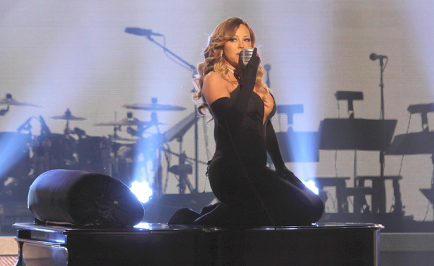 Mariah Carey performing at the BET Honors 2014