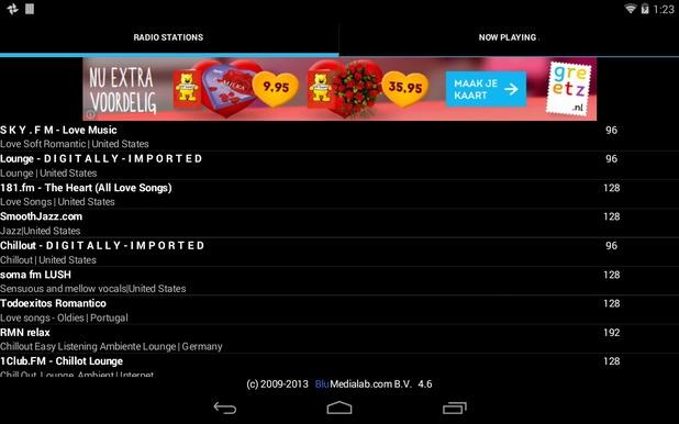 Valentine RADIO mobile app