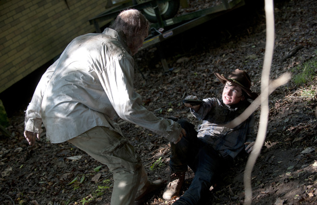 Chandler Riggs as Carl Grimes in The Walking Dead Season 4 Episode 9: 'After'