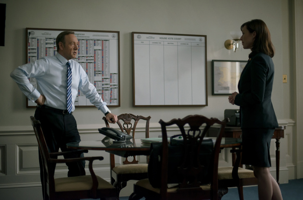 Kevin Spacey and Molly Parker in House of Cards season 2