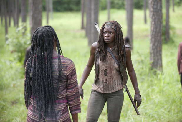 Danai Gurira as Michonne in The Walking Dead Season 4 Episode 9: 'After'