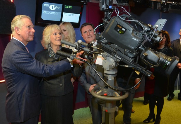 Prince Charles and Camilla visit the Radio 1 and 1Xtra studios