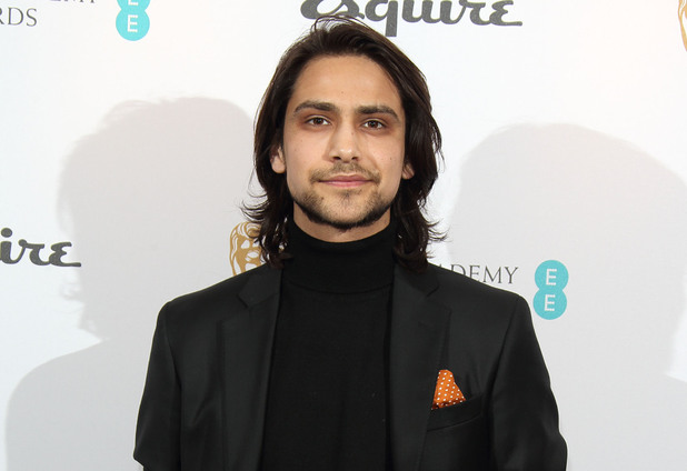 Luke Pasqualino attends the EE and Esquire BAFTA party at The Savoy Hotel