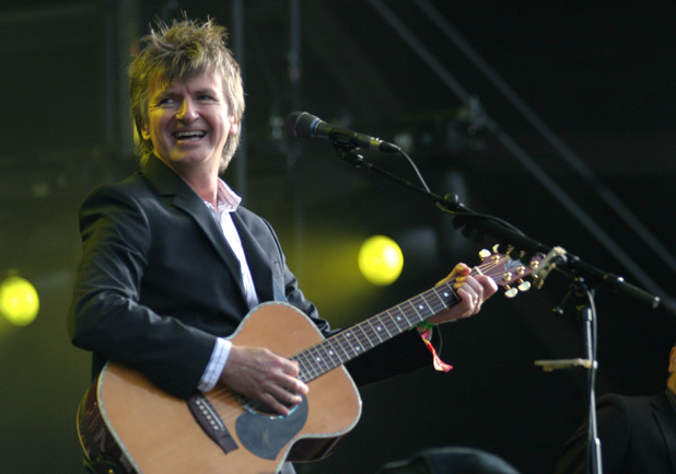 Neil Finn performing alongside Nick Seymour as part of Crowded House