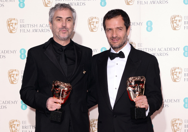 Alfonso Cuaron and David Heyman, BAFTAs 2014,