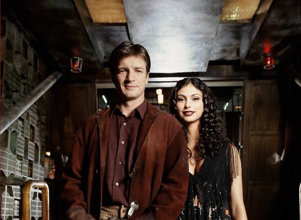 Mal and Inara in Firefly